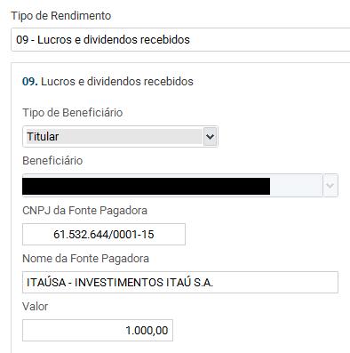 Dividendos Imposto de Renda 2019