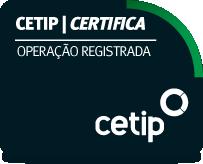 cetip certifica operação registrada