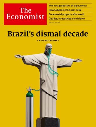 Capa da revista The Economist com destaque para o Brasil